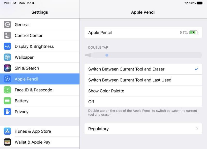 如何更改 Apple Pencil 2上的轻击手势?