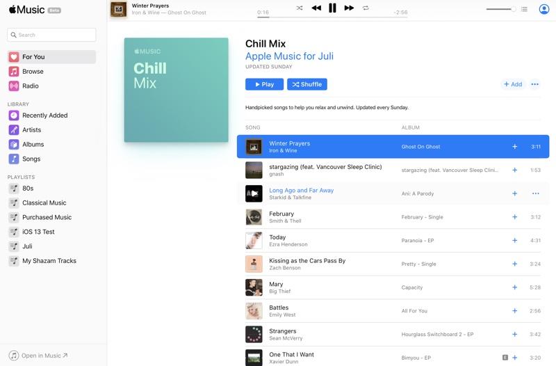 网页版 Apple Music 正式上线开放公测