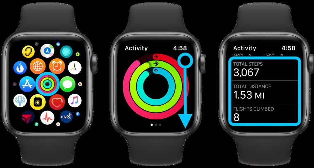 如何在 Apple Watch 上追踪步数、距离及爬楼层数?