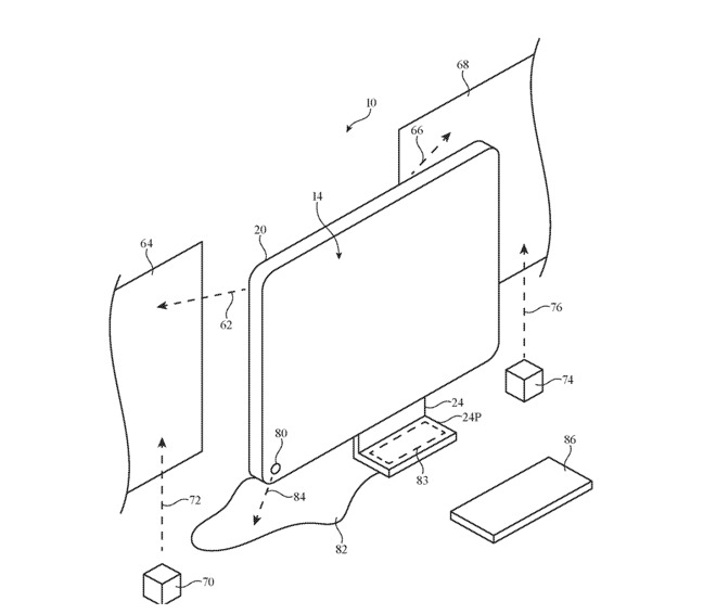苹果新专利显示未来 iMac 可能能够将台式机扩展到附近的墙壁上