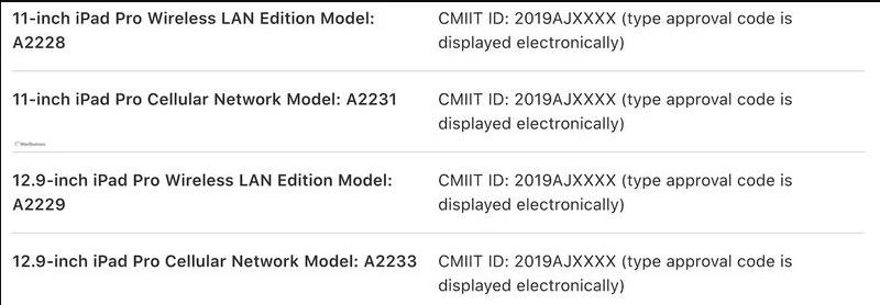 在中国区 iPad 使用手册中,曝光 4 款全新 iPad Pro 型号
