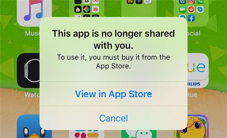 部分外国 iPhone 用户收到「此应用不再与您共享」提示