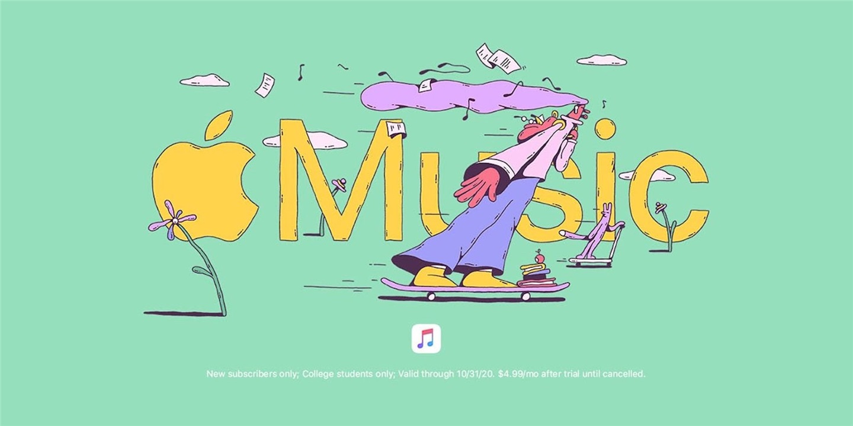 苹果重新带来 Apple Music 6 个月学生免费试用