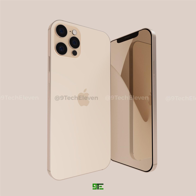 iPhone 12 Pro 最新渲染图曝光:上一代同款刘海,直角边框设计