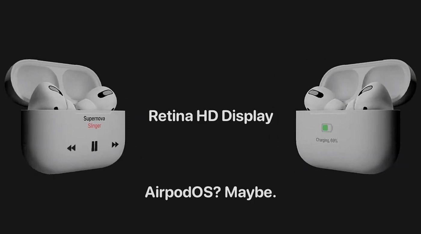 第三方设计师概念设计:AirPods Pro 2 充电盒加入 Retina HD 屏幕
